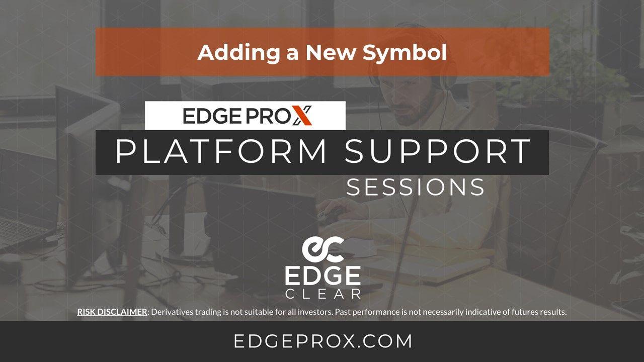 EdgeProX Adding New Symbol